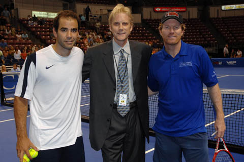 Pete Sampras, Bill Przybysz, and Jim Courier